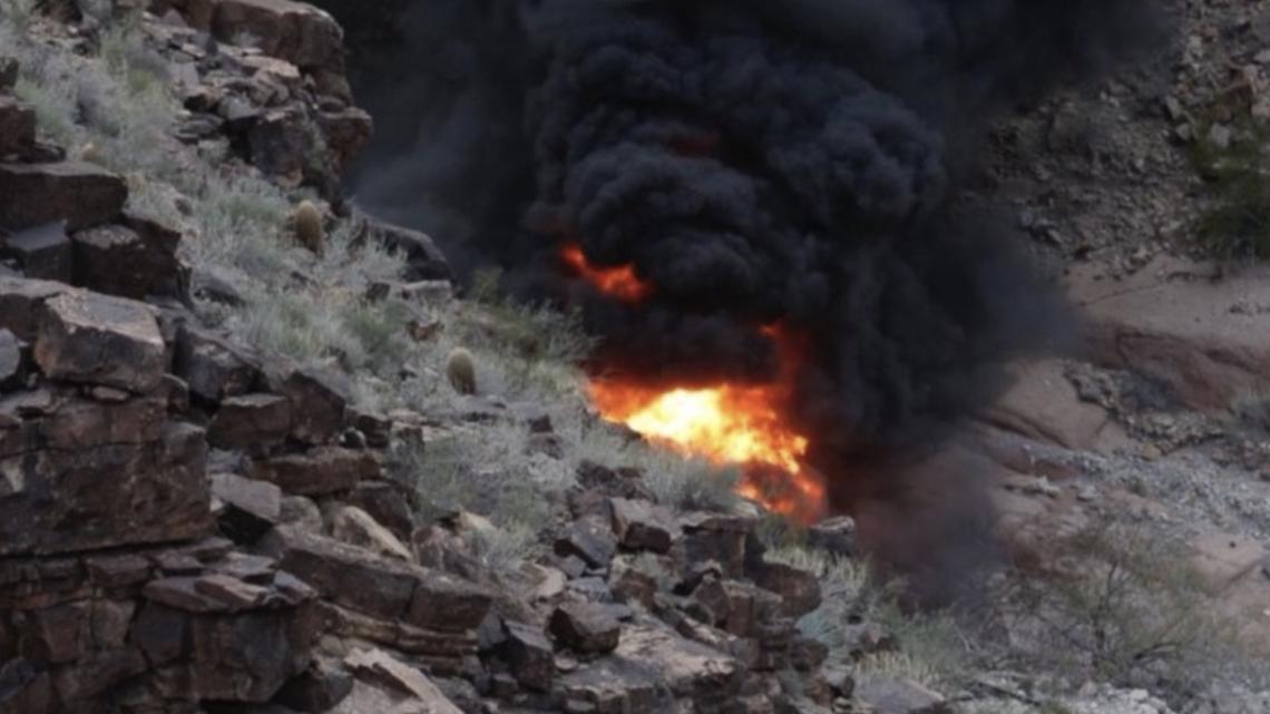 se estrella helicóptero en Gran Cañón