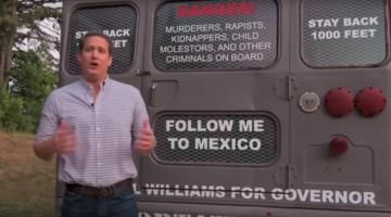 Bus de la deportación para inmigrantes