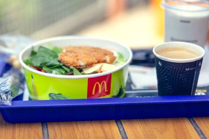 ensaladas en McDonald's