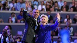 Barack y Clinton
