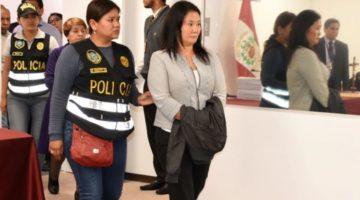Keiko Fujimori se presenta a declarar