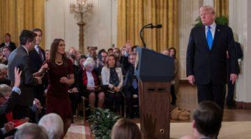 Trump y el periodista