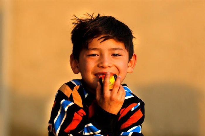 niño afgano que conoció a Messi