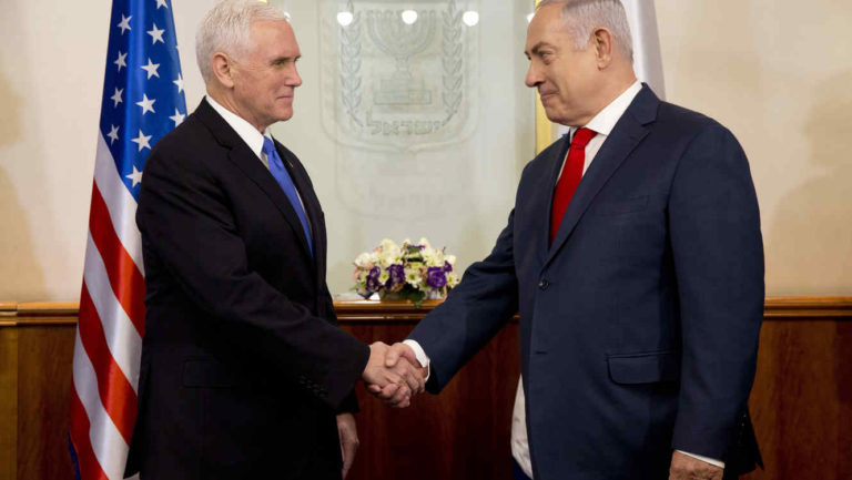 Pence promete Embajada de EE. UU. en Jerusalén