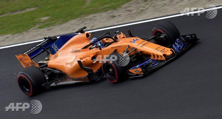 McLaren de Fernando Alonso acabó saliéndose de la pista