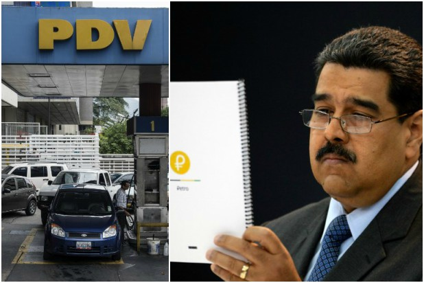 Venezuela cobrará en petros la gasolina