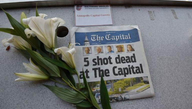 Orioles rinde tributo a víctimas del Gazette