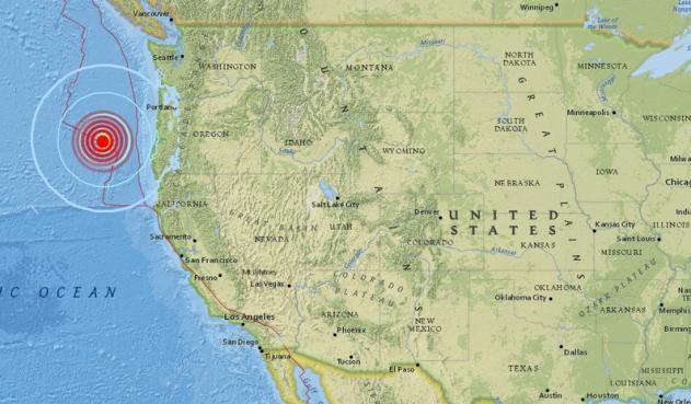 Sismo de magnitud 6,2 sacude a Oregón
