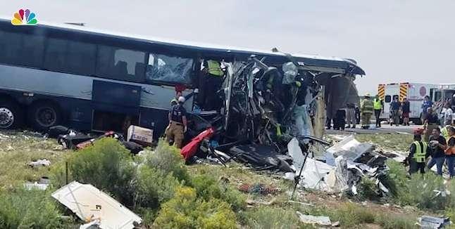 7 muertos en accidente de bus Greyhound en Nuevo México