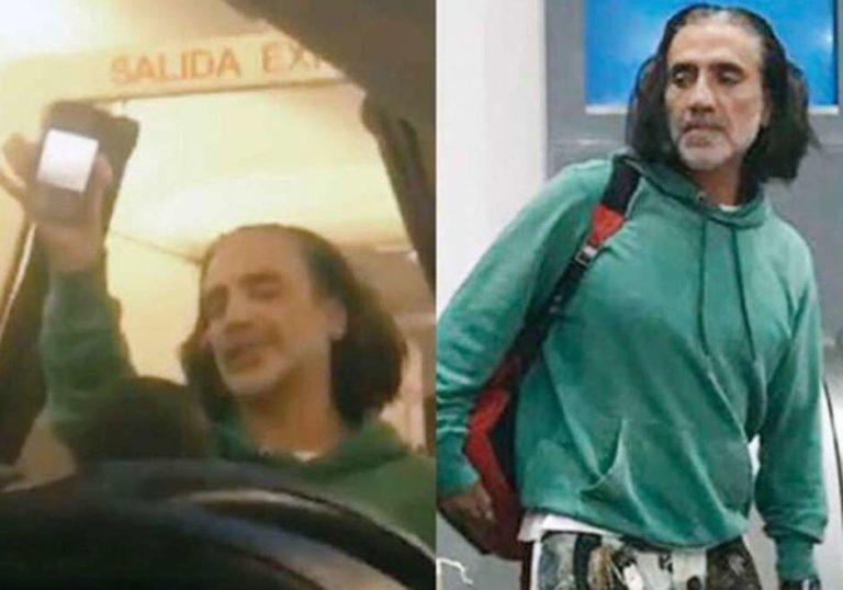 Alejandro Fernández siembra el pánico en un avión
