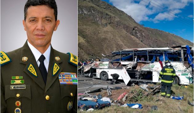 Bus accidentado en Quito, tras hallazgo de droga