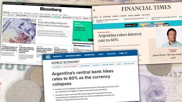 Los medios del mundo destacan la caída del peso argentino