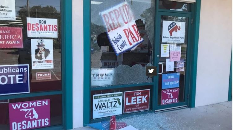 Atacaron a balazos una oficina del Partido Republicano en Florida