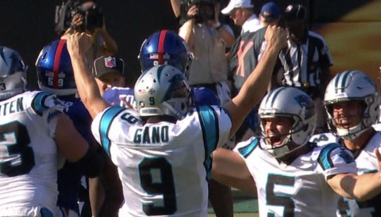 Graham Gano empata marca de la NFL con FG de 63 yd
