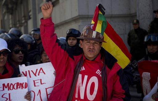 Jornada de paro y movilización contra candidatura de Evo Morales