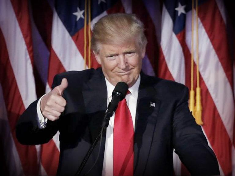 Trump baja el tono con México