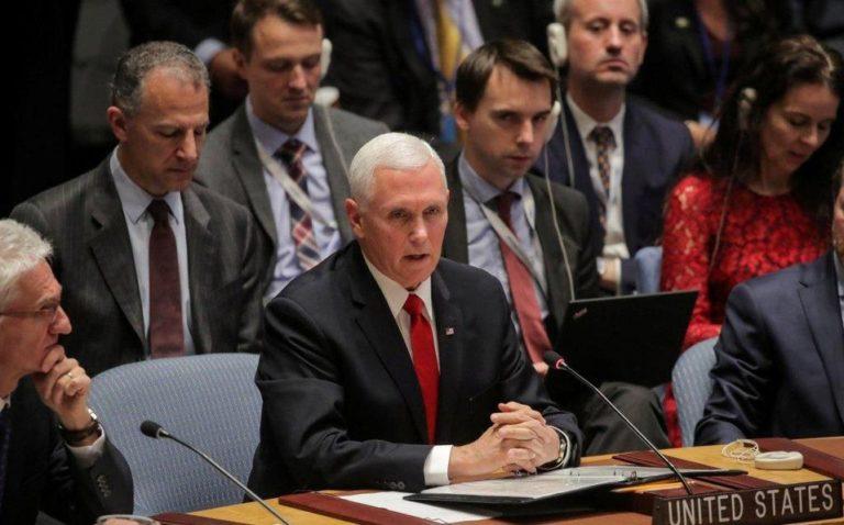 Pence pide a ONU reconocer a Guaidó como presidente de Venezuela