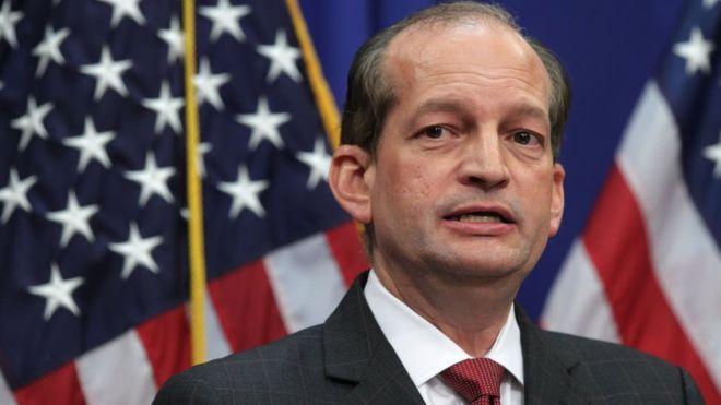Renunció el secretario de Trabajo Alex Acosta
