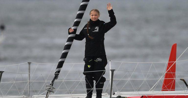 ¡Terminó la travesía! Greta Thunberg llegó a Nueva York