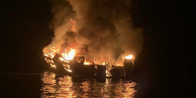 Hallan 25 cadáveres tras incendio de bote en California