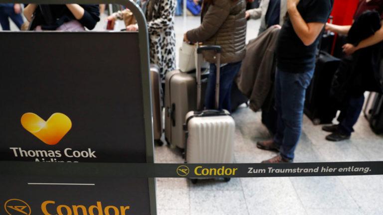 Quiebra de Thomas Cook dejó varados a 600 mil turistas