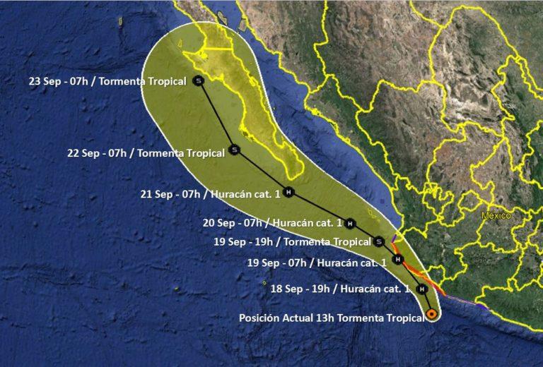 Alerta en el pacífico mexicanopor huracán Lorena