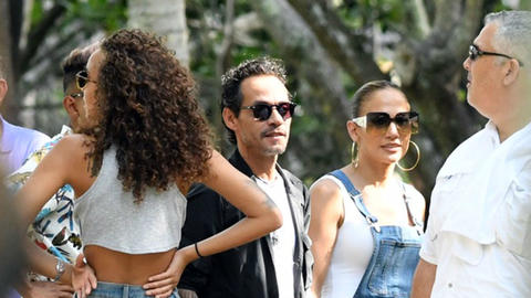 Jennifer López y Marc Anthony disfrutan su buena relación