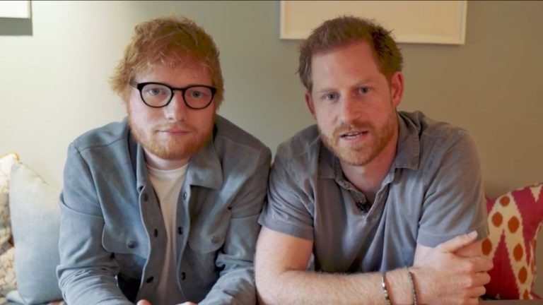 Ed Sheeran y príncipe Harry se unen por la salud mental