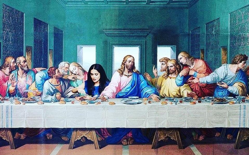 Salma Hayek Y La última Cena De Da Vinci Progreso Hispano News
