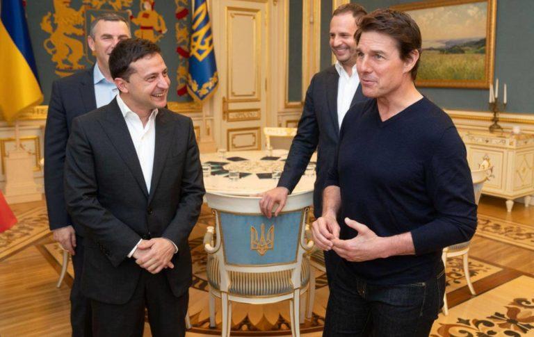 """""""Eres guapo"""": Presidente de Ucrania piropeó a Tom Cruise"""