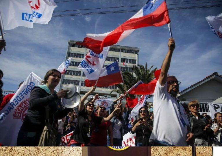 ¡Crisis! Paros escalonados en Chile previo a huelga general