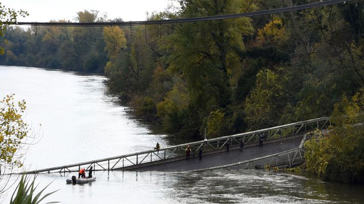 Francia: Derrumbe de puente deja un muerto y desaparecidos
