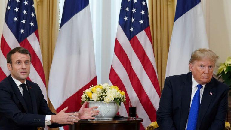 OTAN: Trump y Macron se enfrentaron cara a cara