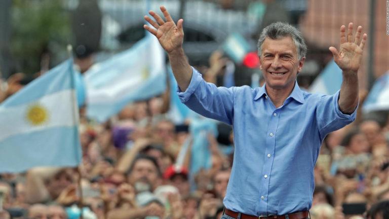 Macri encabezó acto de despedida frente a la Casa Rosada