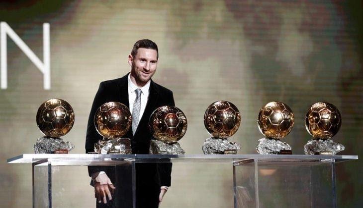 Messi ganó sexto Balón de Oro y superó a Ronaldo