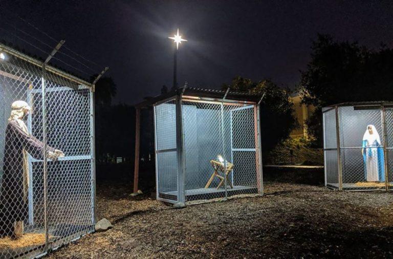 Un pesebre refleja calamidad de las familias inmigrantes