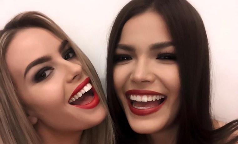 ¡Qué, qué! Dos candidatas del Miss Universo se besaron en la boca