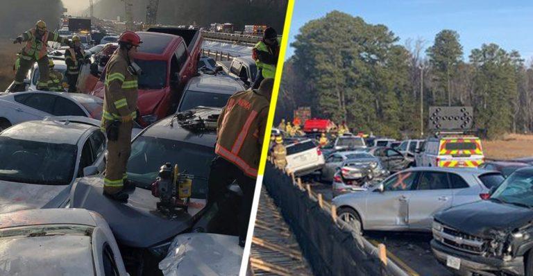 ¡69 vehículos! Sorprendente choque masivo en Virginia