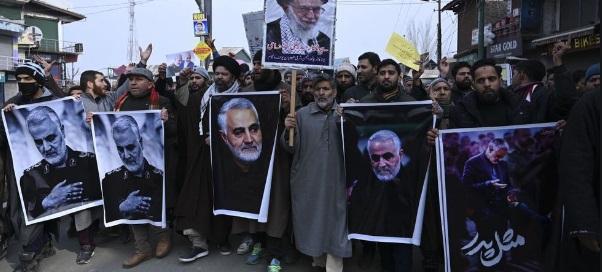 Protestas en Irán tras muerte de líder militar