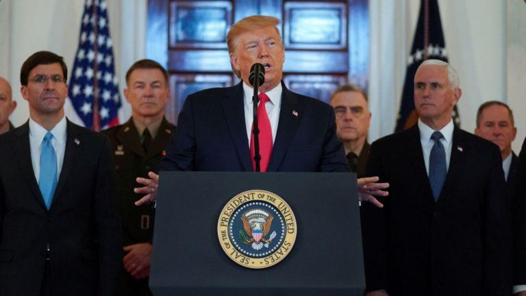 Trump baja el tono y aleja el temor de una escalada militar