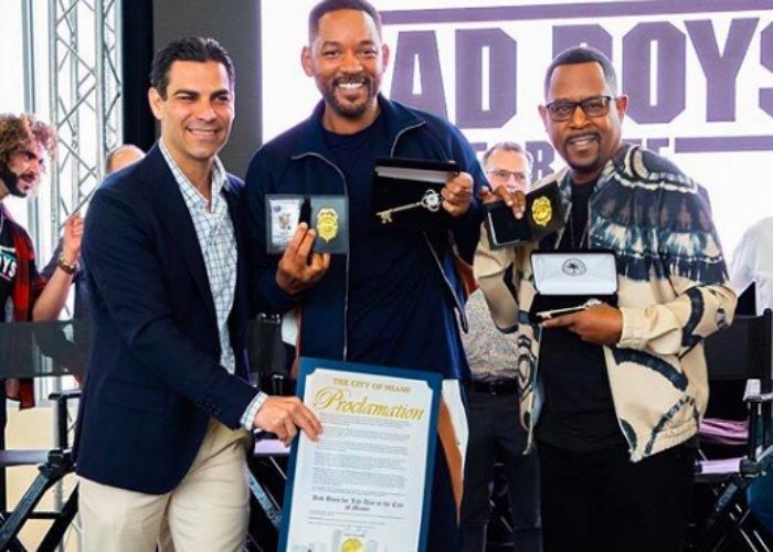 Bad Boys: Will Smith y Martin Lawrence reciben llaves de Miami