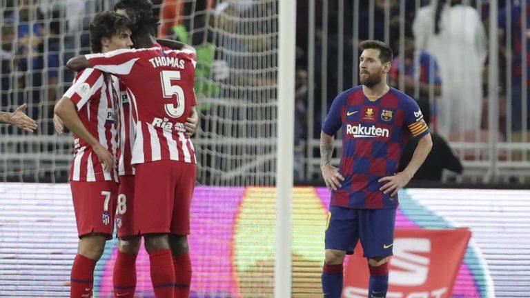 Atlético Madrid dejó a Barça sin final de la Supercopa
