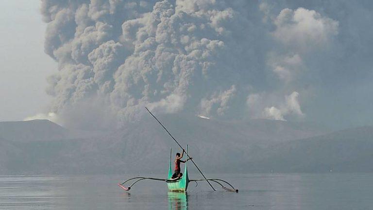 Erupción del volcán Taal no se desacelera