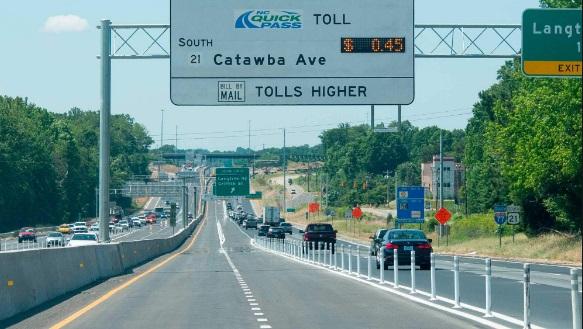 I-77 y Providence Rd con tráfico lento