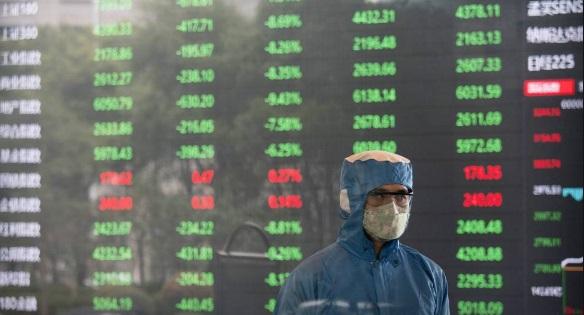 Bolsas mundiales se desploman por impacto de COVID-19