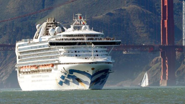 Crucero en California con 21 casos de coronavirus a bordo