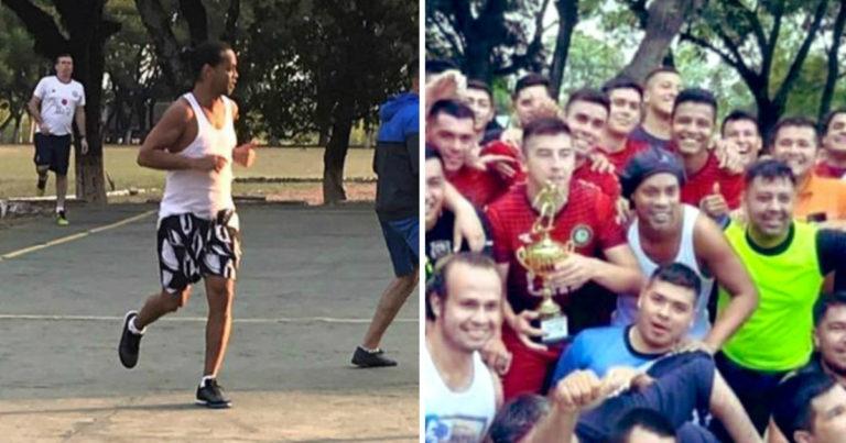 Fútbol y carpintería, la vida de Ronaldinho en prisión