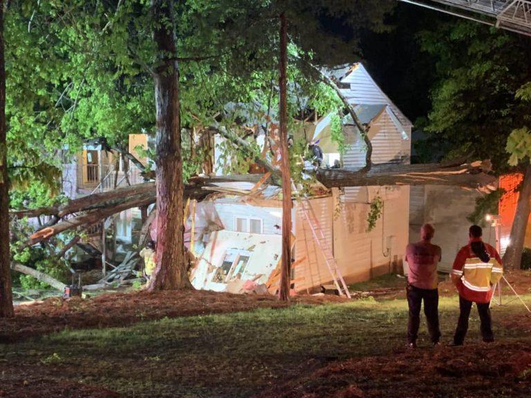 Rescatada mujer tras caída de árbol en apartamentos
