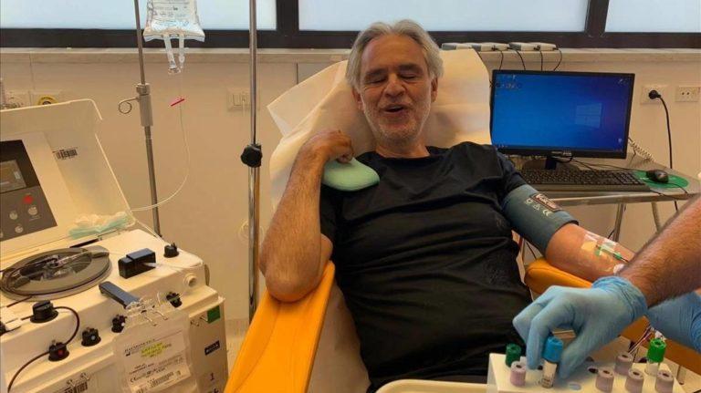 Andrea Bocelli sufrió coronavirus y dona su plasma para investigación