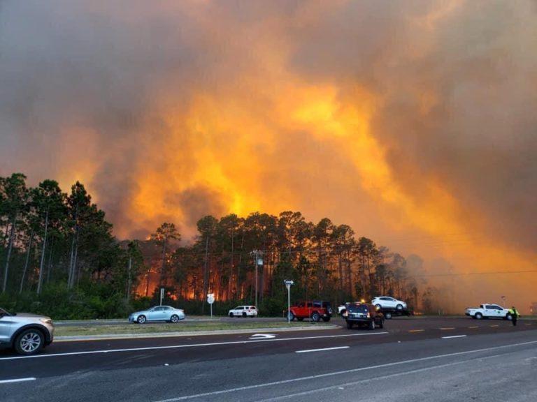 Más de 500 evacuados por poderoso incendio en Florida